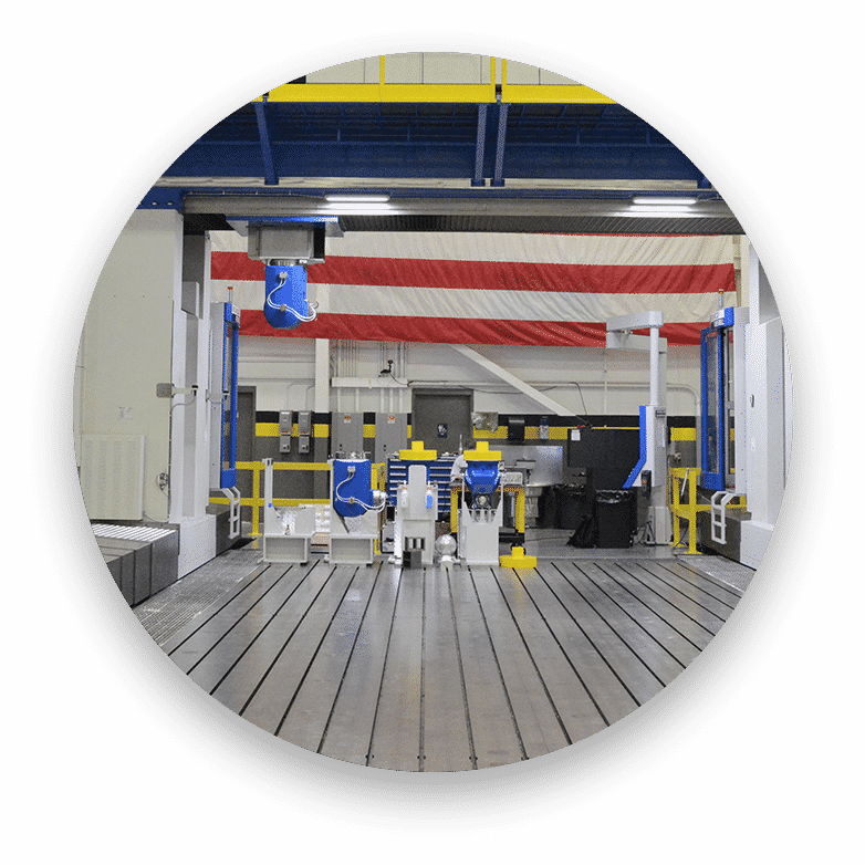 Huge 5-axis CNC machine for post-processing in large-scale metal additive manufacturing (wire arc additive manufacturing or 3D printing)